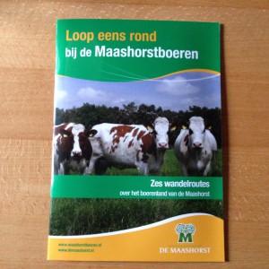 Boekjes Loop eens rond bij de Maashorstboeren zes wandelroutes